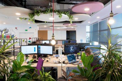 open space office design concept